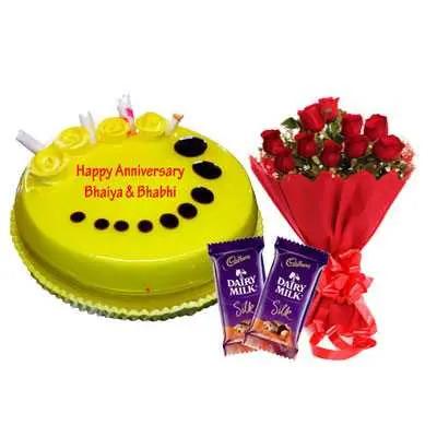 Pineapple Cake, Bouquet & Silk