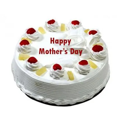 Eggless Mothers Day Pineapple Cake