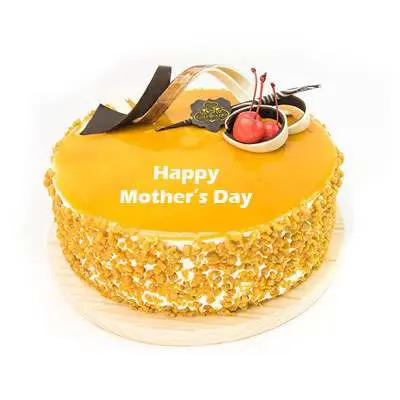 Mothers Day Butterscotch Cream Cake