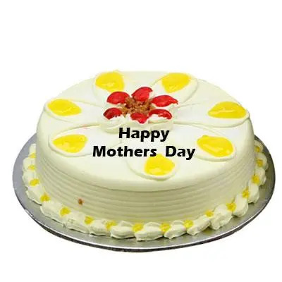 Mothers Day Pineapple Cream Cake