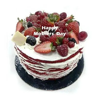 Mothers Day Red Velvet Fruit Cake
