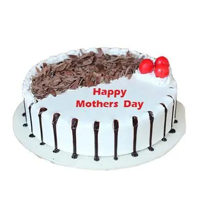 Mothers Day Snowy Black Forest Cake