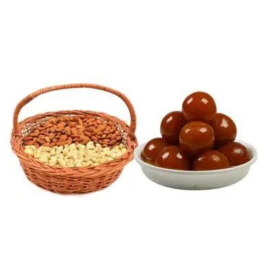 Almonds, Cashew & Gulab Jamun