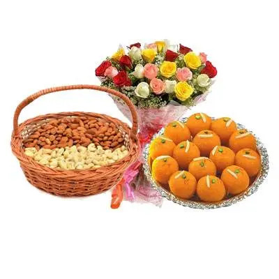 Almonds, Cashew, Laddu & Mix Roses