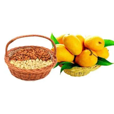 Almonds, Cashew & Mango Basket