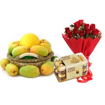 Mango Basket, Bouquet with Ferrero