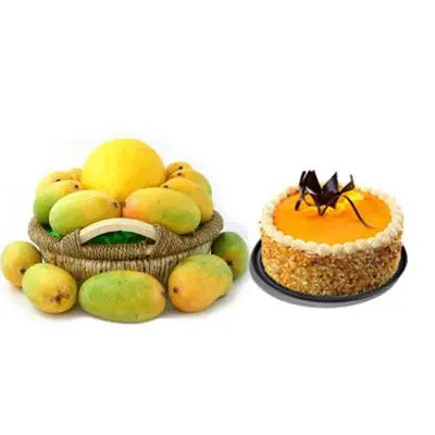 Mango Basket with Butterscotch Cake