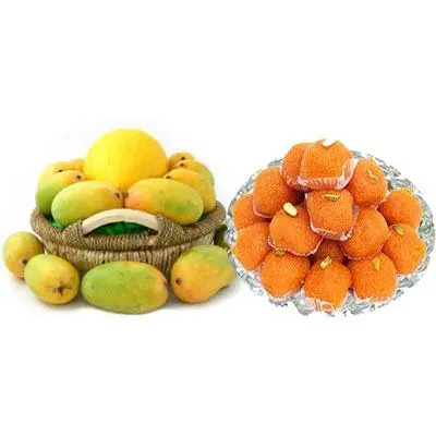 Mango Basket with Laddu