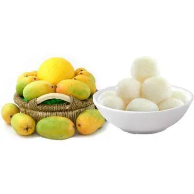 Mango Basket with Rasgulla