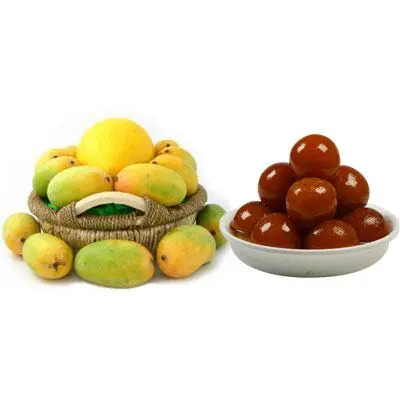 Mango Basket with Gulab Jamun