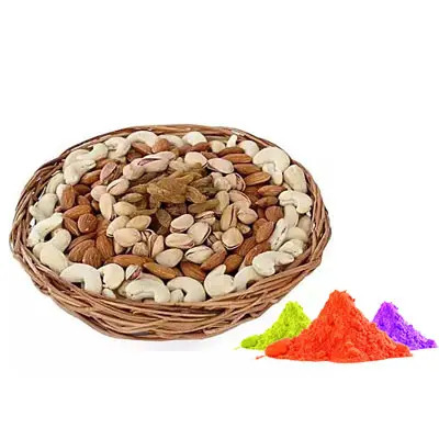 Mix Dry Fruits with Gulal