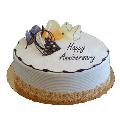 Happy Anniversary Cream Cake