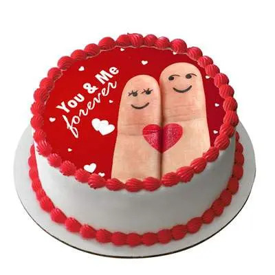 Happy Anniversary You & Me Cake