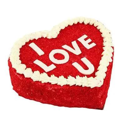 I love you Red Velvet Cake