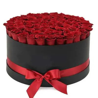 Red Roses Round Box