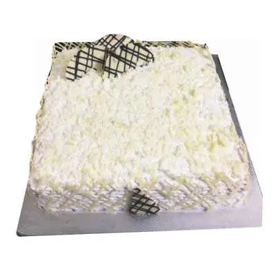 White Forest Square Cake
