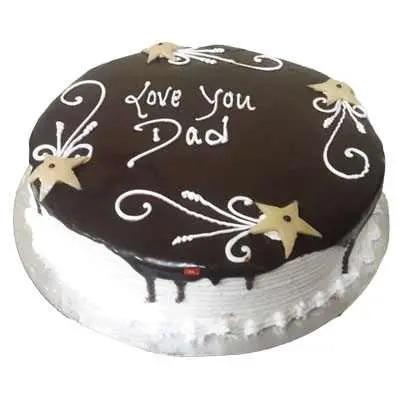 Love you Dad Choco Vanilla Cake