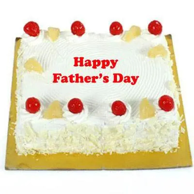 Fathers Day Pineapple Square Cake