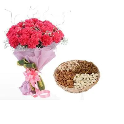 Pink Carnation & Dry Fruits