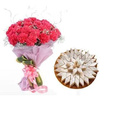 Pink Carnation & Kaju Burfi