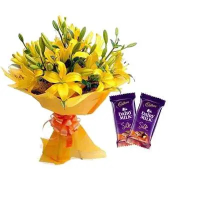 Yellow Lily & Silk Chocolate