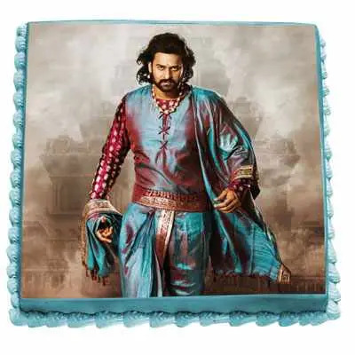 Amarendra Bahubali Chocolate Photo Cake