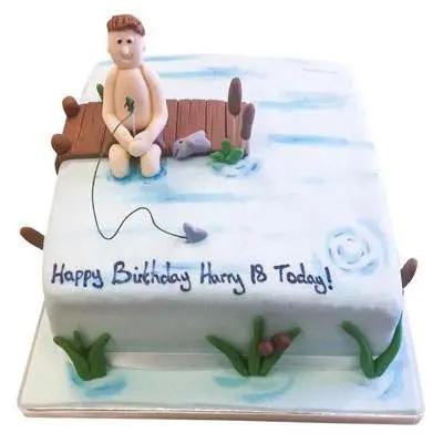 Fishing Fondant Cake