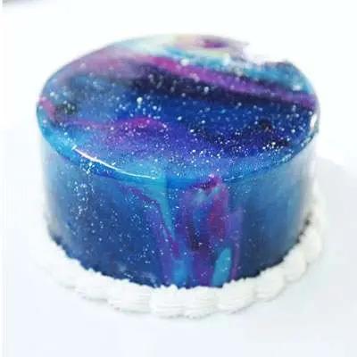 Galaxy Mirror Fondant Cake
