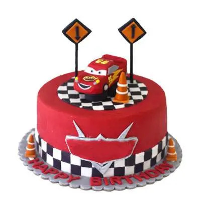Lightning Mcqueen Fondant Cake