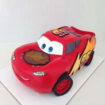 Mcqueen Car Fondant Cake