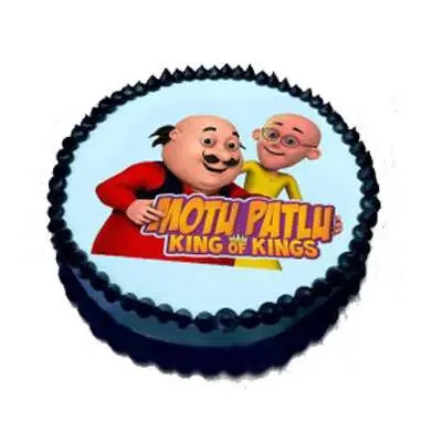 Motu Patlu Chocolate Photo Cake
