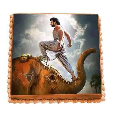 Saahore Baahubali Photo Cake