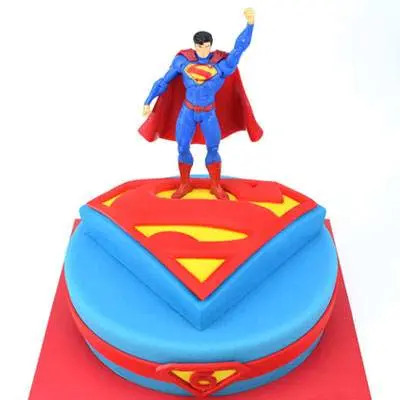 The Superman Fondant Cake