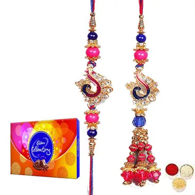 Lumba Rakhi For Bhaiya Bhabhi With Celebration