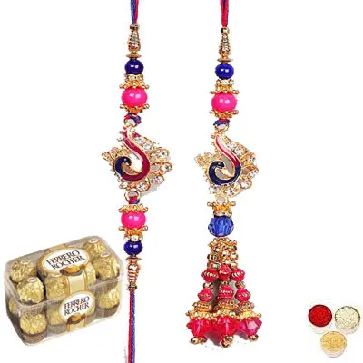 Lumba Rakhi For Bhaiya Bhabhi With Ferrero