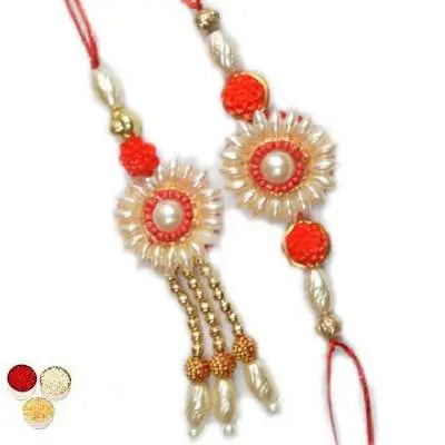 Lumba Rakhi Set With Tikka