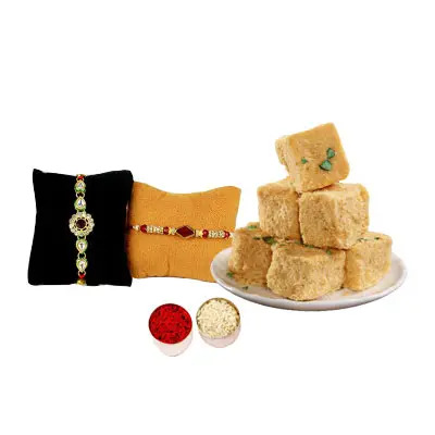Rakhi Set with Soan Papdi
