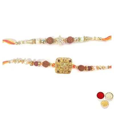 Set of 2 Rudraksha Rakhi