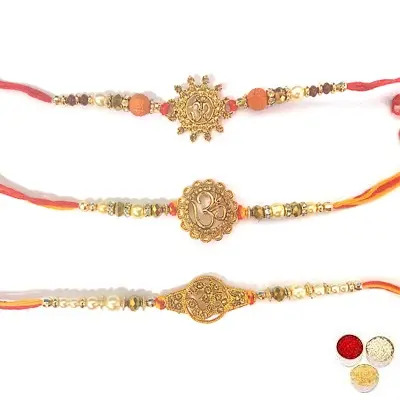Set of 3 Om Rakhi