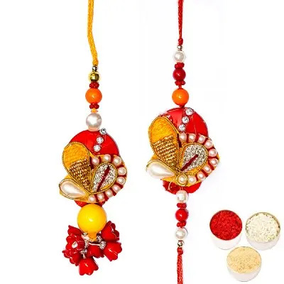 Divine Rakhi Set For Bhaiya Bhabhi
