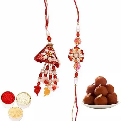 Awesome Rakhi Set for Bhaiya Bhabhi & Gulab Jamun