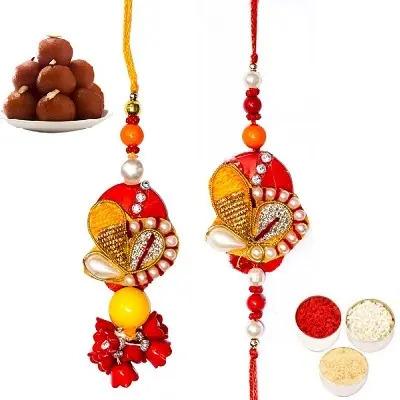 Divine Rakhi Set For Bhaiya Bhabhi & Gulab Jamun