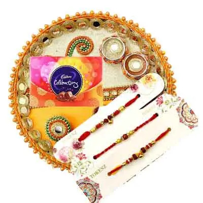 3 Rakhi with Rakhi Thali & Celebration