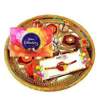 Rajasthani Rakhi Thali with Celebration
