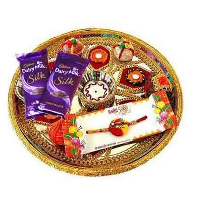 Rajasthani Rakhi Thali with Silk