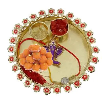 Rakhi Thali for Brother with Laddu