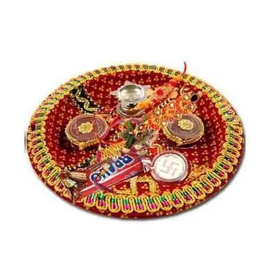 Traditional Rakhi Pooja Thali