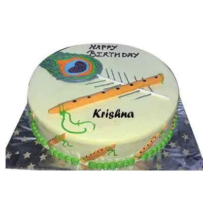 Krishna Ashtami Pineapple Cake