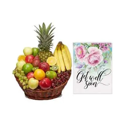 Mix Fruits Basket With Card