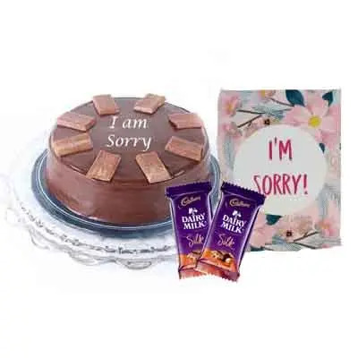 I M Sorry Chocolate Cake With Silk & Card